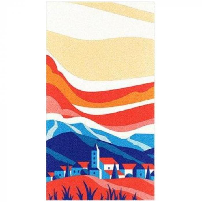 Pictura cu nisip colorat Apus de soare 3
