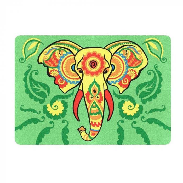 Pictura cu nisip colorat Leu, Elefant, Maimuta 2