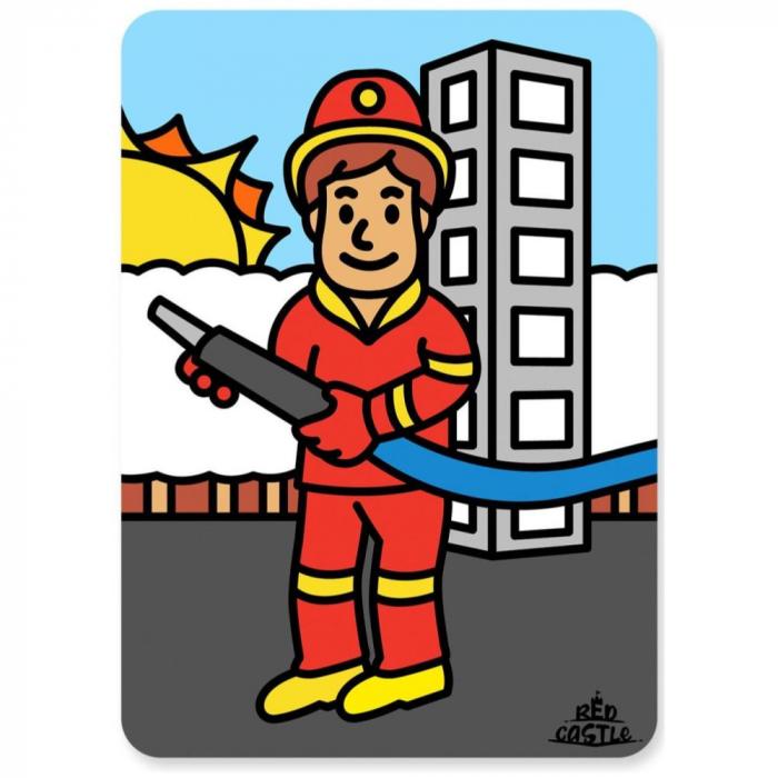 Pictura cu nisip colorat Pompier 0