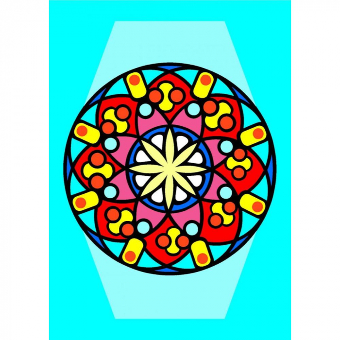 Pictura cu nisip colorat Mandala 0