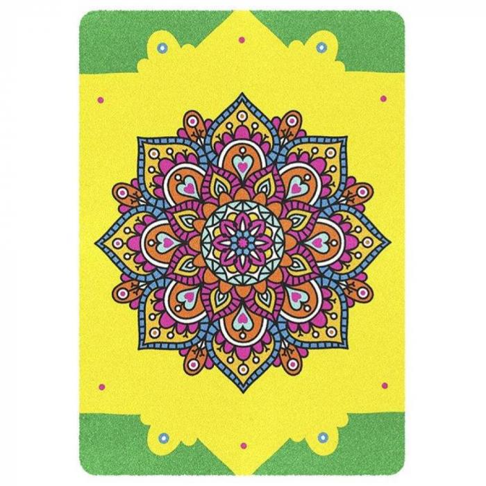 Pictura cu nisip colorat Mandala, Relax 3