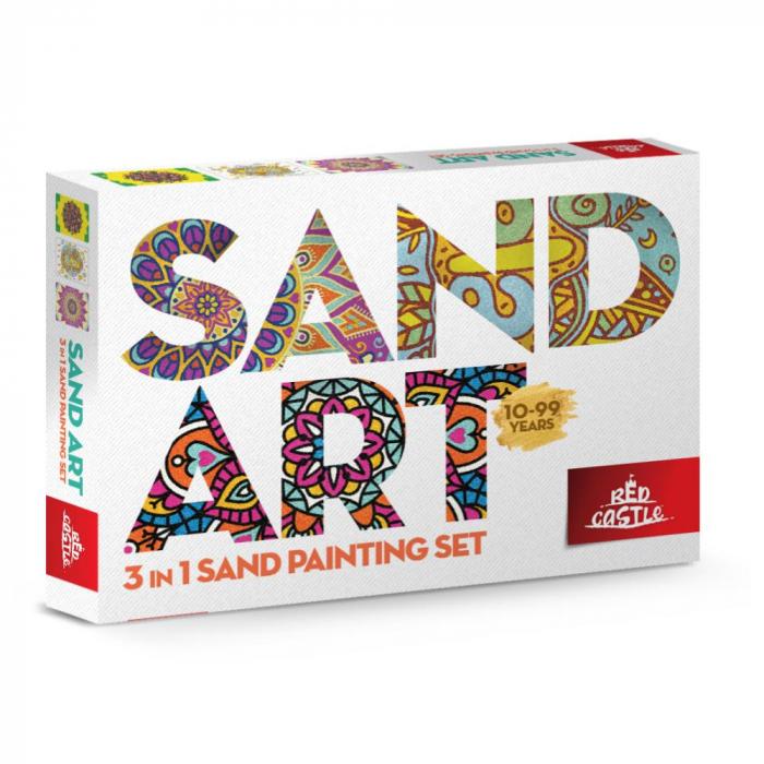 Pictura cu nisip colorat Mandala, Relax 0