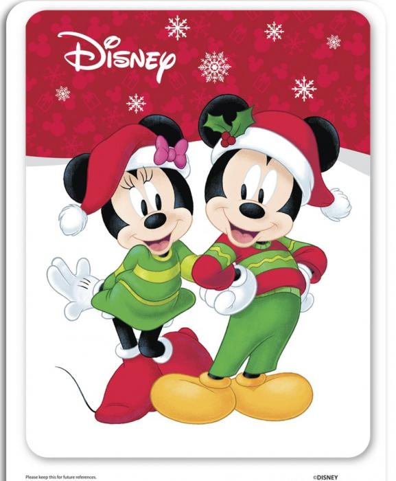Pictura cu nisip colorat Minnie & Mickey Mouse Santa [5]