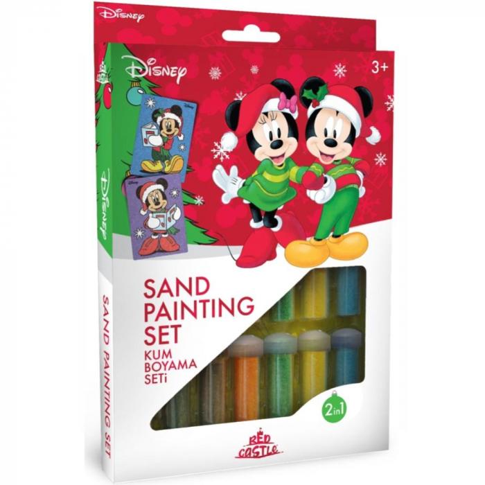 Pictura cu nisip colorat Minnie & Mickey Mouse Santa [0]