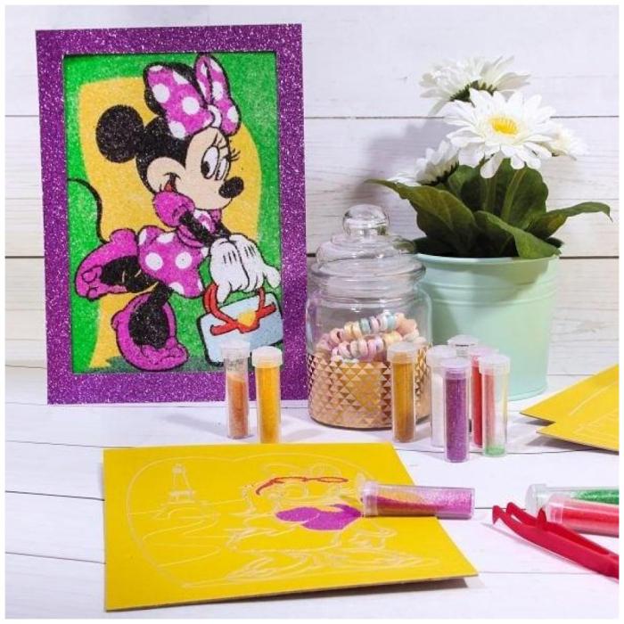 Pictura cu nisip colorat Minnie Mouse & Daisy Duck [3]