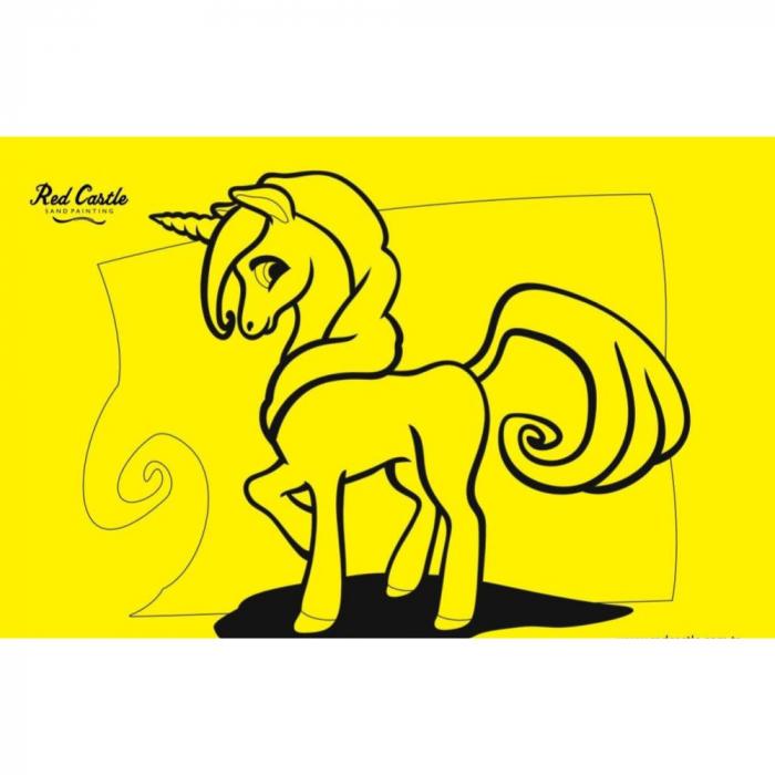 Pictura cu nisip colorat Unicorn 1