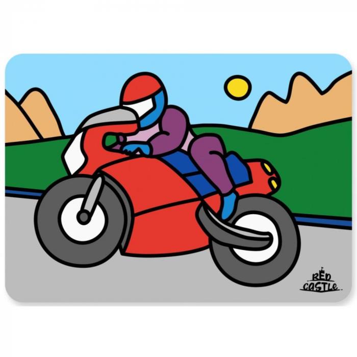 Pictura cu nisip colorat Motociclist 0