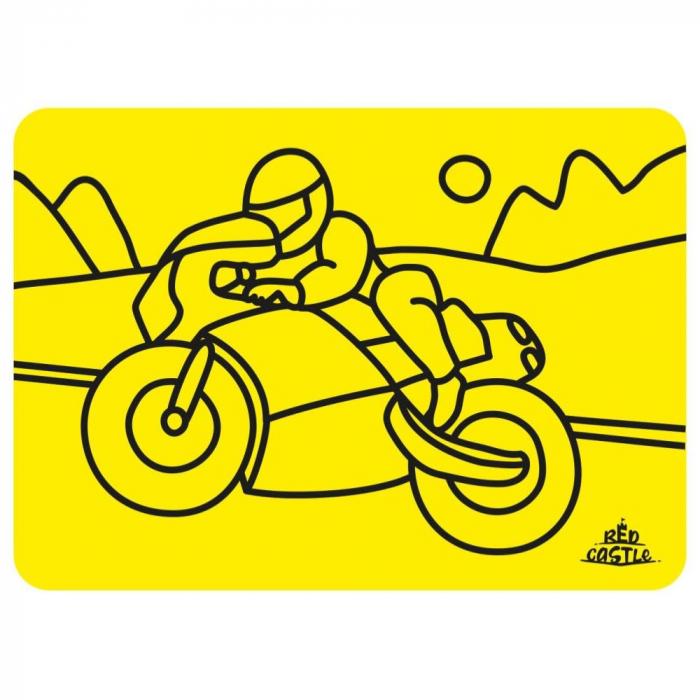Pictura cu nisip colorat Motociclist 1