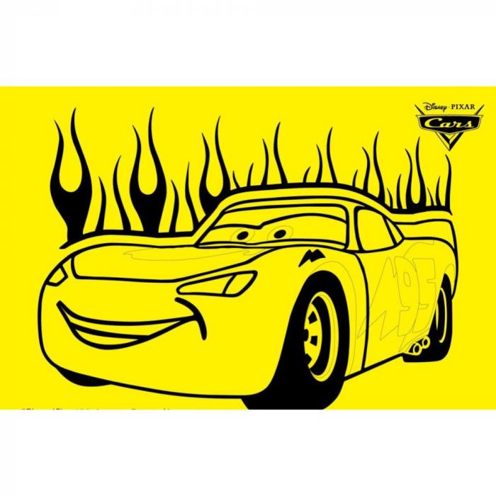 Pictura cu nisip colorat CARS - Fulger McQueen 0