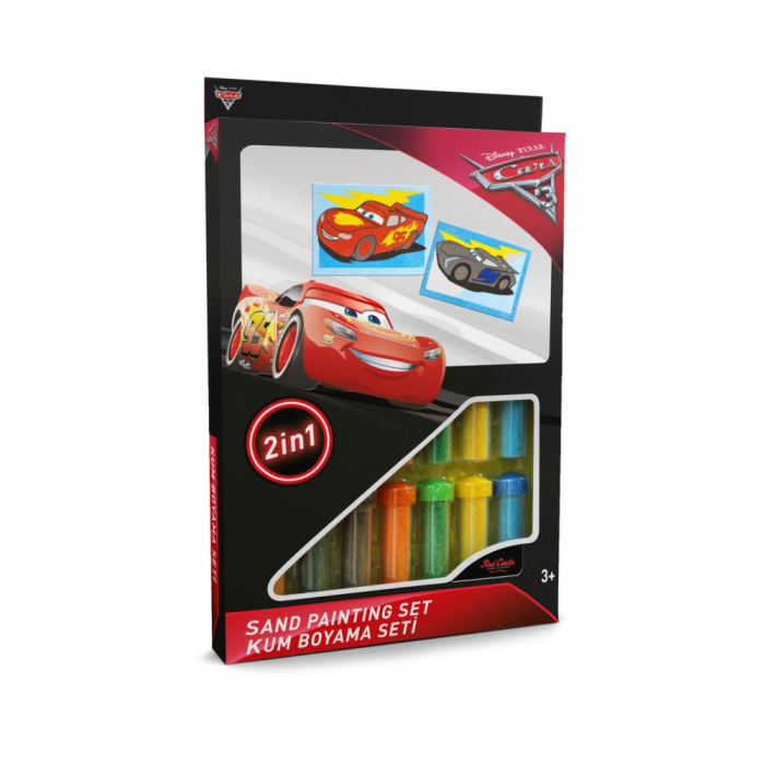 Pictura cu nisip colorat Cars 3 - Fulger McQueen & Jackson Storm II 0