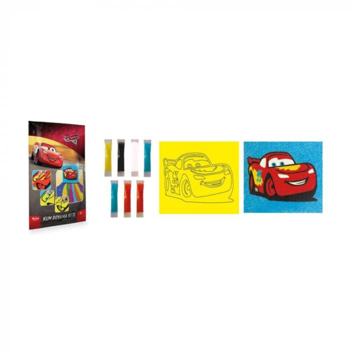 Pictura cu nisip colorat Cars 1