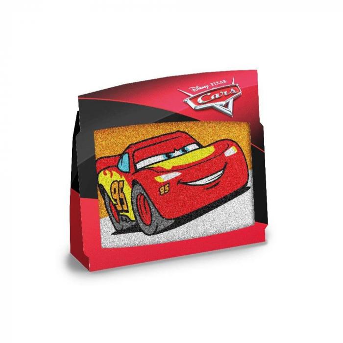 Pictura cu nisip colorat Cars - Fulger McQueen & Jackson Storm 2