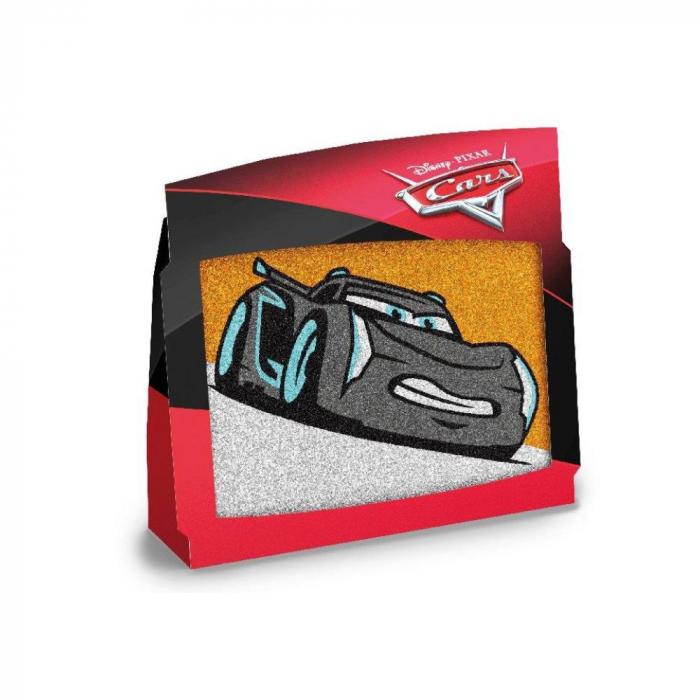 Pictura cu nisip colorat Cars - Fulger McQueen & Jackson Storm 3