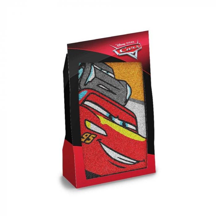 Pictura cu nisip colorat Cars - Fulger McQueen & Jackson Storm 4