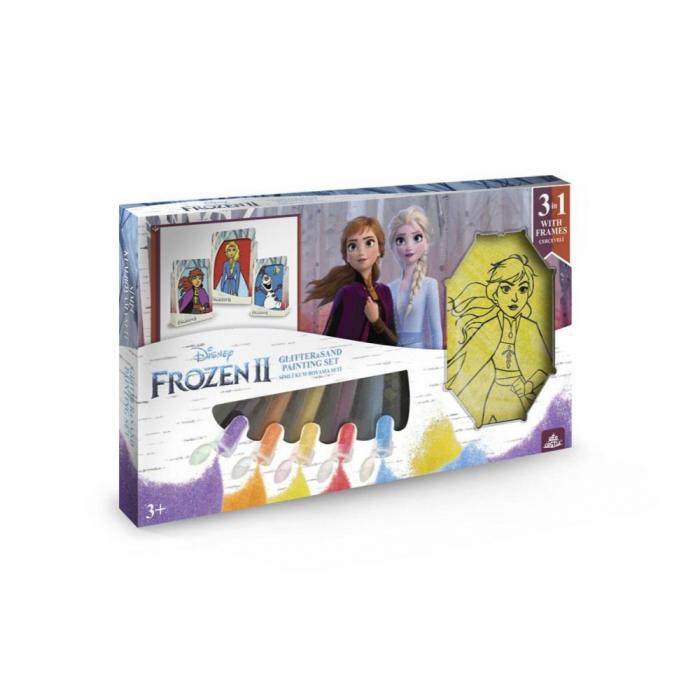 Pictura cu nisip colorat Frozen II – Elsa & Anna & Olaf 0