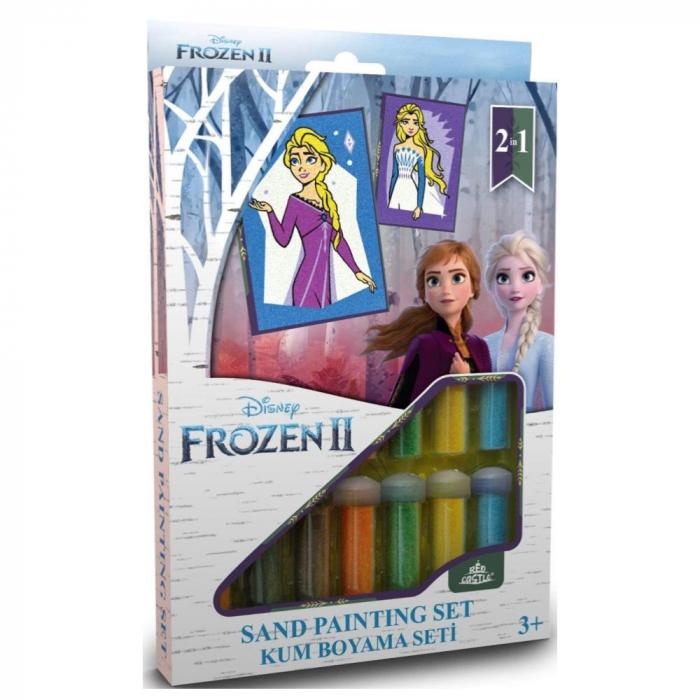 Pictura cu nisip colorat Frozen II - Elsa 0