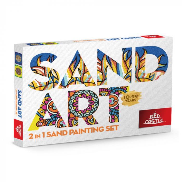 Pictura cu nisip colorat Leu, Mandala [0]