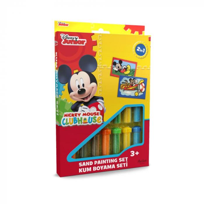 Pictura cu nisip colorat Mickey Mouse 0