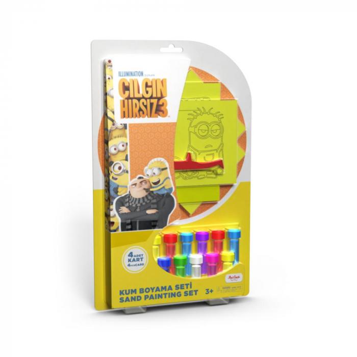 Pictura cu nisip colorat Minion – Kevin, Stuart, Bob, Phil [0]