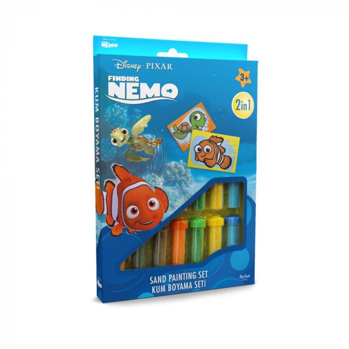 Pictura cu nisip colorat Nemo & Squirt [0]