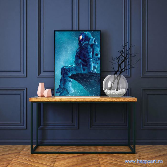 Set Goblen cu diamante, cu sasiu, Astronaut, 40x50 cm, 14 culori [1]