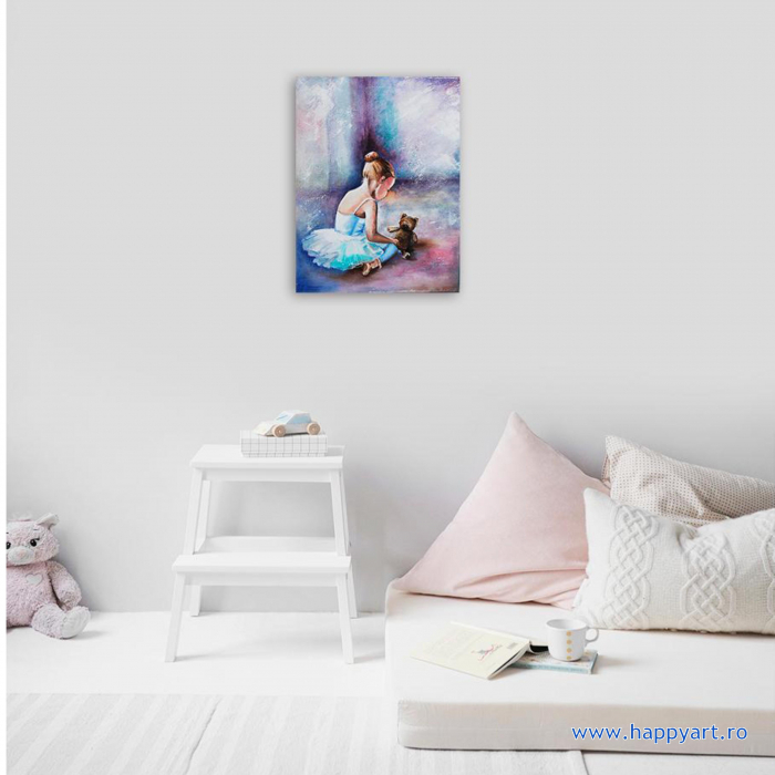 Set Goblen cu diamante, cu sasiu, Balerina - Primii Pasi, 30x40 cm, 26 culori [2]