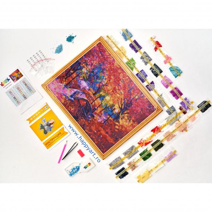 Set Goblen cu diamante, cu sasiu, Culorile Toamnei, 40x50 cm, 27 culori [3]