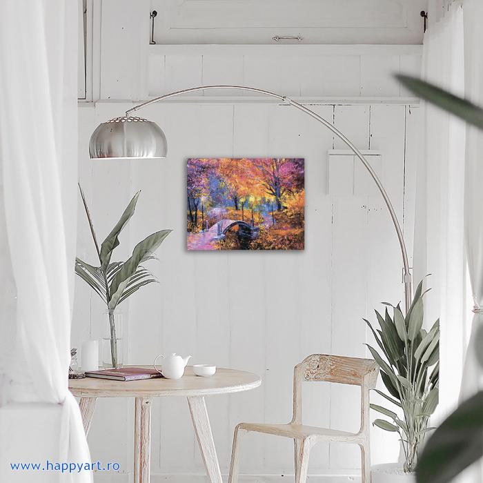 Set Goblen cu diamante, cu sasiu, Culorile Toamnei, 40x50 cm, 27 culori [2]