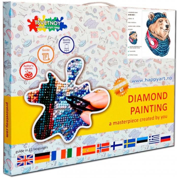 Set Goblen cu diamante, cu sasiu, URS, 20x30 cm, 19 culori [2]