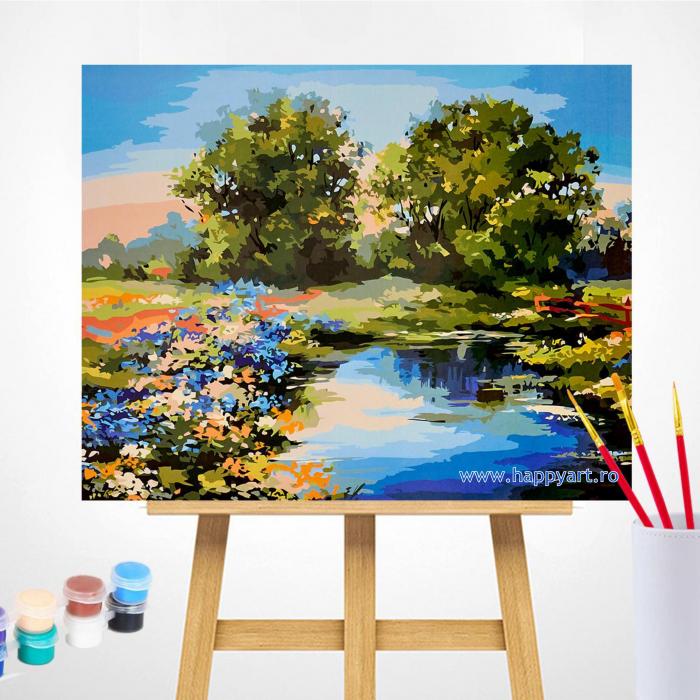 Set pictura pe numere, cu sasiu, Raul Vara, 40x50 cm, 30 culori [1]