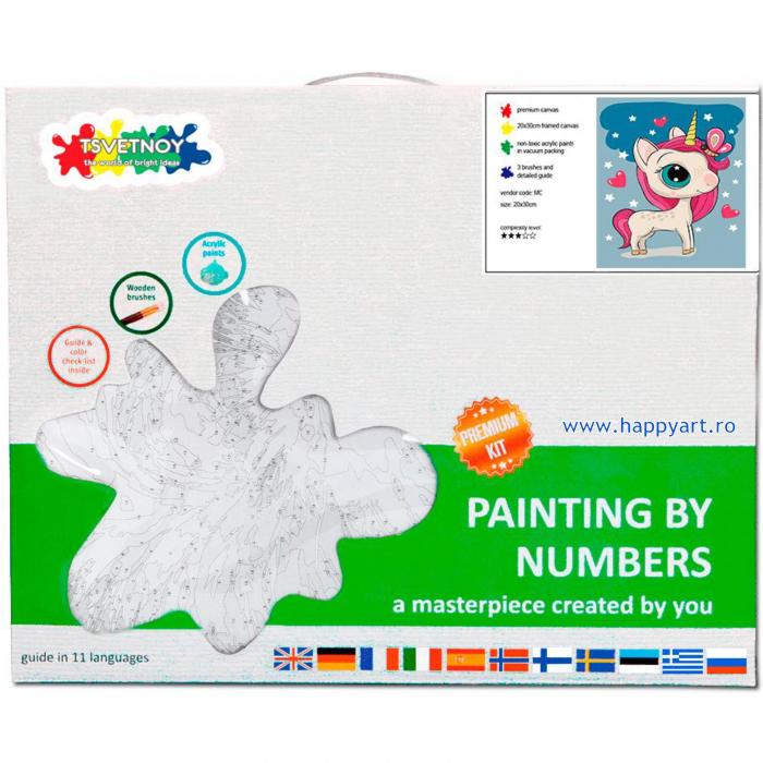 Set pictura pe numere, cu sasiu, Unicor Magic, 20x30 cm [3]