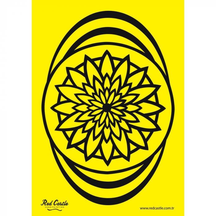 Pictura cu nisip colorat Mandala floare 1
