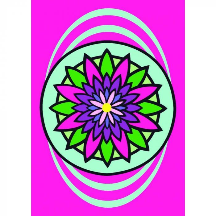 Pictura cu nisip colorat Mandala floare 0