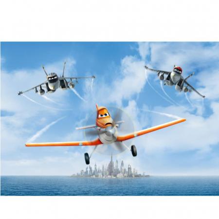 Avioane – Dusty Crophopper & El Chupacabra, Disney, Set creativ pictura cu nisip colorat, 2 planse 16,5 x 23,5 cm, 15 tuburi nisip multicolor, 1 penseta, 2 folii protectie, + 3 ani3