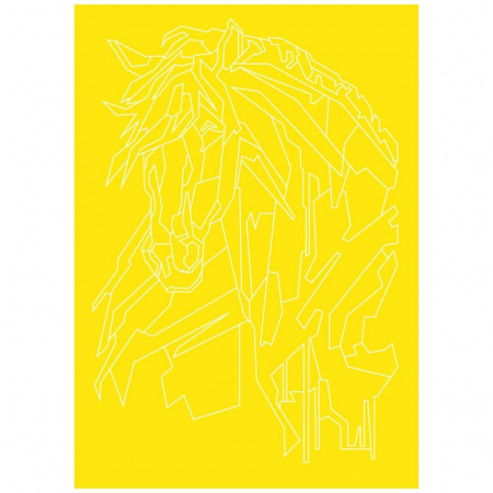 CALUL CUBIC, Set creativ, pictura cu nisip colorat, 1 plansa 23,5 x 33 cm, 22 tuburi nisip multicolor, 1 penseta, 1 folie protectie, pentru 10 – 99 ani3