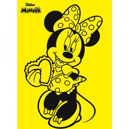Minnie Mouse Love, Disney, Set creativ Pictura cu nisip colorat, 1 plansa 21 x 29,7 cm, 10 plicuri nisip multicolor, 1 betisor, 1 folie protectie, + 3 ani1
