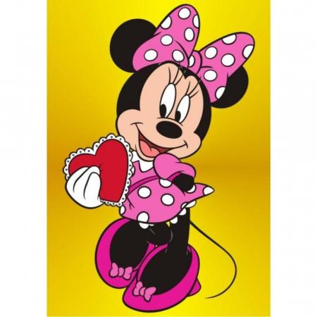 Minnie Mouse Love, Disney, Set creativ Pictura cu nisip colorat, 1 plansa 21 x 29,7 cm, 10 plicuri nisip multicolor, 1 betisor, 1 folie protectie, + 3 ani0