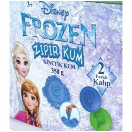 Frozen, Disney, Nisip kinetic, 350 g, albastru, 4 forme Elsa, Anna si Olaf, + 3 ani1
