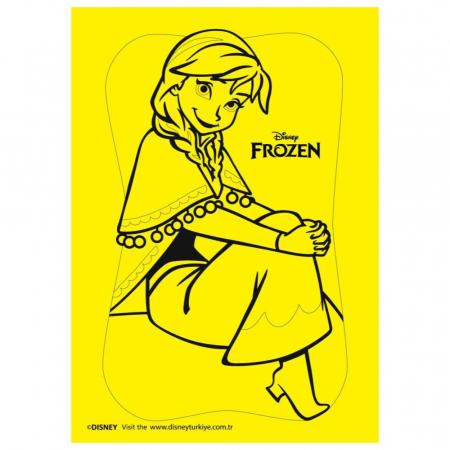 Frozen – Elsa & Anna, Disney, Set creativ pictura cu nisip colorat, 2 planse 16,5 x 23,5 cm, 15 tuburi nisip multicolor, 1 penseta, 2 folii protectie, + 3 ani3