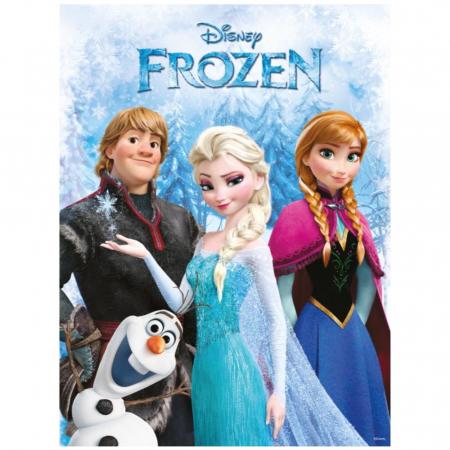Frozen II – Elsa & Anna & Olaf, Disney, Set creativ pictura cu nisip colorat, 1 plansa 14,8x21 cm, 2 planse 10,5x14,8 cm, 3 rame carton, 16 tuburi nisip multicolor, 1 penseta, 3 folii, + 3ani3