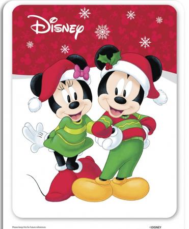 Minnie Mouse Santa, Disney, Set creativ Pictura cu nisip colorat, 1 plansa 21 x 29,7 cm, 10 plicuri nisip multicolor, 1 betisor, 1 folie protectie, + 3 ani2