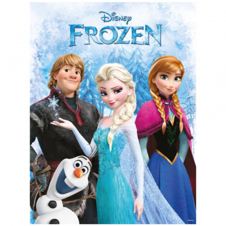 Frozen - Olaf, Disney, Set creativ pictura cu nisip colorat, 1 plansa 11 x 11 cm, 6 tuburi nisip multicolor, 1 penseta, 1 folie protectie, + 3 ani1