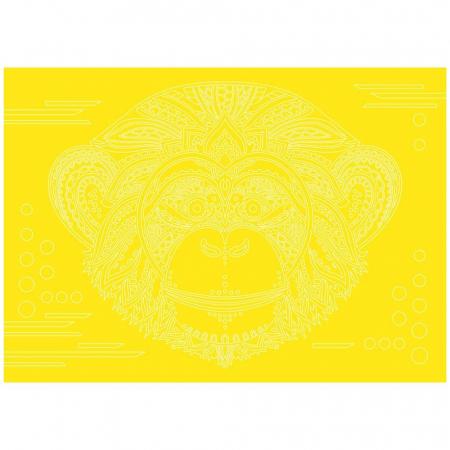 Leu, Elefant, Maimuta, Set creativ, pictura cu nisip colorat, 3 planse 23,5 x 33 cm, 45 tuburi nisip multicolor, 3 pensete, 3 folii protectie, pentru 10 – 99 ani5
