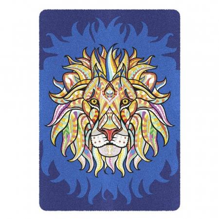 Leu, Elefant, Maimuta, Set creativ, pictura cu nisip colorat, 3 planse 23,5 x 33 cm, 45 tuburi nisip multicolor, 3 pensete, 3 folii protectie, pentru 10 – 99 ani1