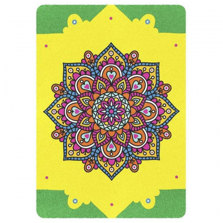 Leu, Mandala, Set creativ, pictura cu nisip colorat, 2 planse 23,5 x 33 cm, 30 tuburi nisip multicolor, 2 pensete, 2 folii protectie, pentru 10 – 99 ani2