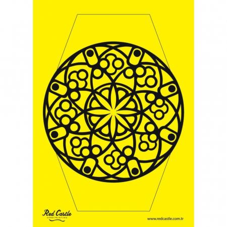 MANDALA, Set creativ Pictura cu nisip colorat, 1 plansa 21 x 29,7 cm, 10 plicuri nisip multicolor, 1 betisor, 1 folie protectie, + 3 ani1
