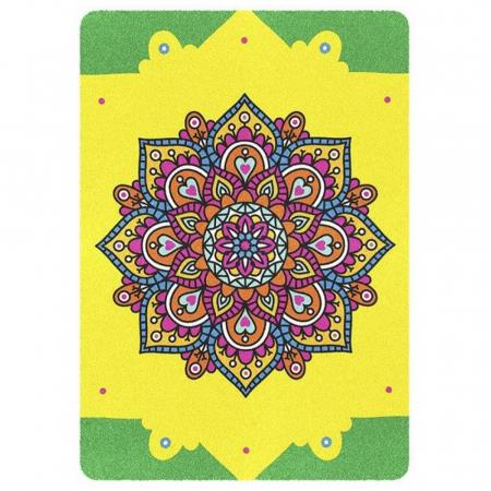 Mandala, Relax, Set creativ, pictura cu nisip colorat, 3 planse 23,5 x 33 cm, 45 tuburi nisip multicolor, 3 pensete, 3 folii protectie, pentru 10 – 99 ani3