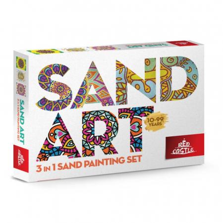 Mandala, Relax, Set creativ, pictura cu nisip colorat, 3 planse 23,5 x 33 cm, 45 tuburi nisip multicolor, 3 pensete, 3 folii protectie, pentru 10 – 99 ani0