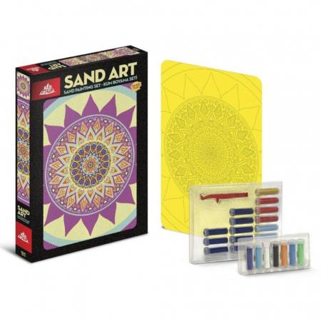 Pictura cu nisip colorat Mandala [1]