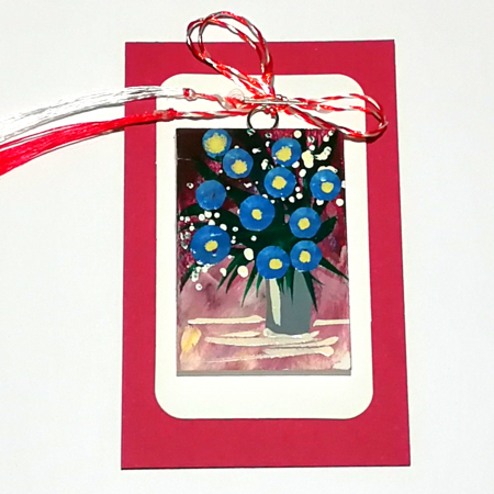 Martisor handmade, Mini tablou pictat, diverse modele6